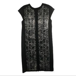 NARCISO RODRIQUEZ Black Print Floral Dress